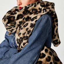 Winter Scarf Women Fashion Leopard Print Casual All Matched Pashmina Echarpe Homme Hiver Scarf Luxury Brand Ladies Shawl(China)