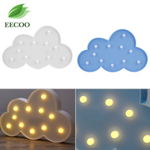 EECOO 1Pc Cute Cloud Shape Led Night Light Home Bedroom Kids Room Decoration Lamp Cheap Price(China)