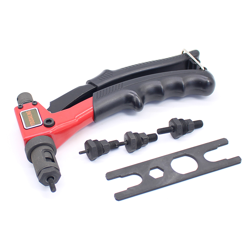 YOUSAILING 8 200mm M3/M4/M5/M6 Hand Riveter Manual Rivets Nut Gun Handle Screw Gun Riveting Tools M3-M6<br>
