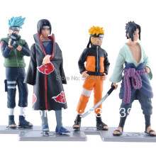 2014 NEW Hot 4 PCS/set Naruto 12cm kakashi itachi sasuke Anime Assortment Figures Set The 19th Generation Collection Model toy
