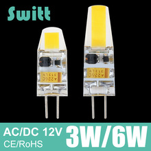 G4 LED Lamp 3W 6W COB LED Bulb AC DC 12V Mini Lampada LED G4 COB Light 360 Beam Angle Lights Replace Halogen G4 Chandelier