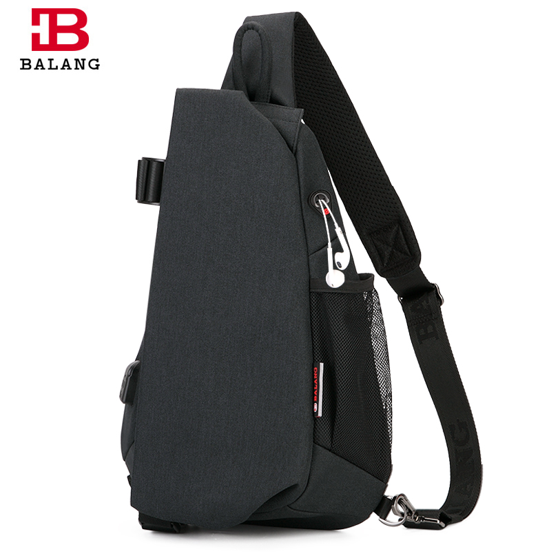 BALANG Mens Casual Multi-functional Chest Pack Waterproof Crossbody Bag fou Ipad New Anti-theft Sling Bags for Boys and Girls<br>