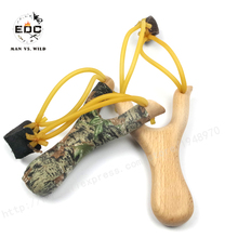 EDC Cool Simple Wood Slingshot Wooden Hunting Slingshot Sports Catapult Launcher Beech slingshot Camping equipment