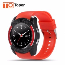 Smart Watch V8 Clock Bluetooth Connectivity Android Phone Sync Notifier Support Sim TF Card MP3 Round  Watch Smartwatch Stock