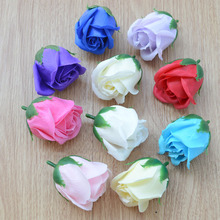 artificial flowers Simulation Rose soap flower soap flower head bouquet of flowers gift packaging materials(China)
