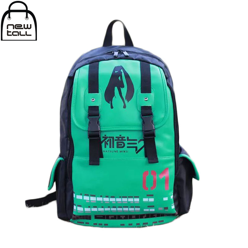 [NEWTALL]2017 New Fasion Free Shiping Hatsune Miku Cartoon Backpack  Anime Package Inclined Shoulder Bag ZB0078<br>