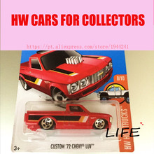 Hot Wheels 1:64 Red Custom Chevy Luv Car Models Metal Diecast Car Collection Kids Toys Vehicle For Children Juguetes 40