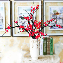 Artificial flowers Plum flower Artificial plants tree branch Silk flowers for home decoration(China)