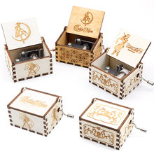 Most New Antique Carved Music Box Wood 32 Style In Stock Hand Cranked For Children Friends Christmas Gift A Birthday Present