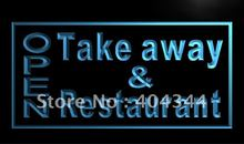 LK990- OPEN Take Away Restaurant LED Neon Light Sign(China)