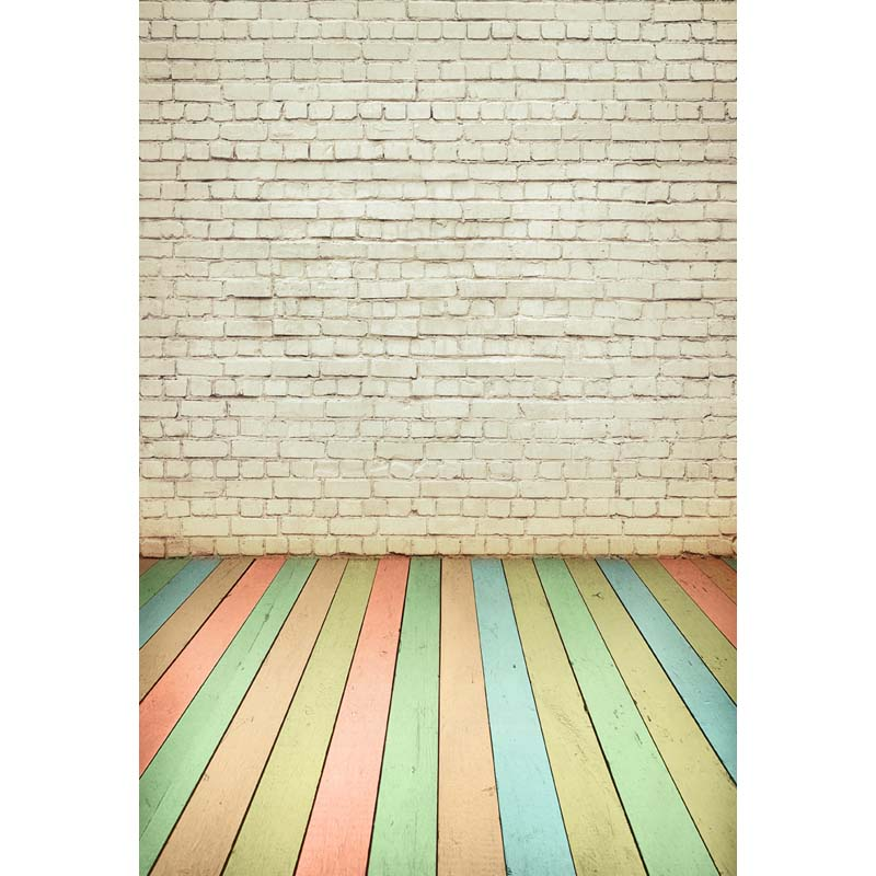 Thin vinyl wood floor and white bricks photography backdrops background photo studio wallpaper decoration backdrop  F-2817<br><br>Aliexpress