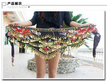 2016 New arrival women cheap belly dance coin scarf belt for sale multi-color multi-strapped law buy more 5PCS DHL free shipping