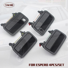 4PCS A CAR SET EXTERIOR DOOR HANDLE FOR DAEWOO ESPERO OEM:96145140FL 96145141FR 96134291RL 96134292RR(China)