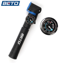 BETO NEW High-end Plastic Mini Portable Cycling Bike Bicycle Tire Inflator Air Pump With Pressure Gauge Bracket Accessories(China)