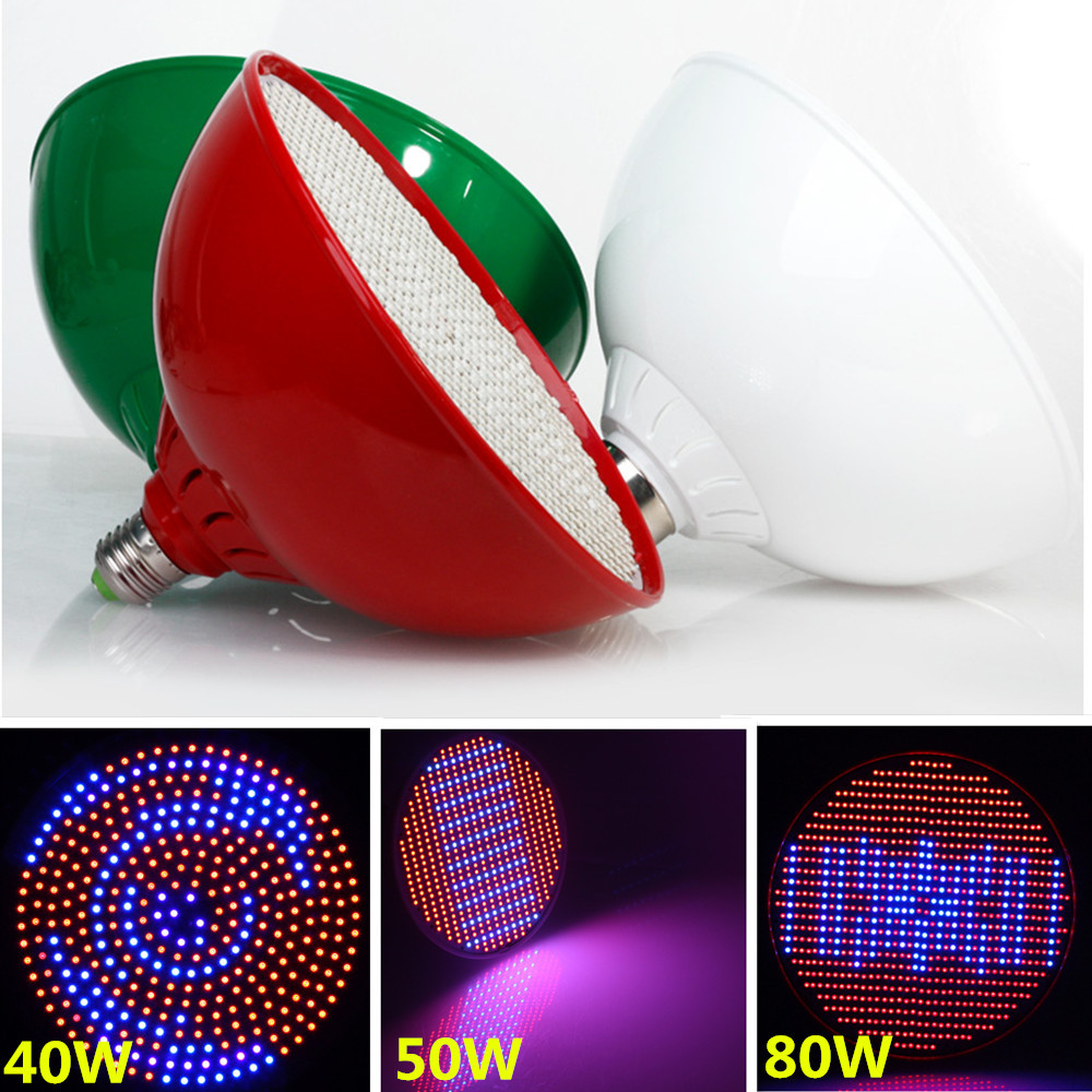 E27 40W/50W/80W 2835SMD Red + Blue Led Grow Light for Flowers Plant Flower and Hydroponic System 85-265V Grow Led<br><br>Aliexpress