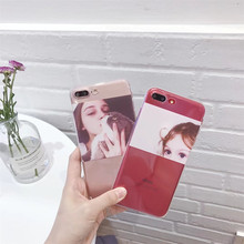 Europe - US Girls & Western Beauty Pattern Phone Cover Cases Anti-Shock Fundas For iPhone 6 6s Plus 7 7 Plus Protective Coque(China)
