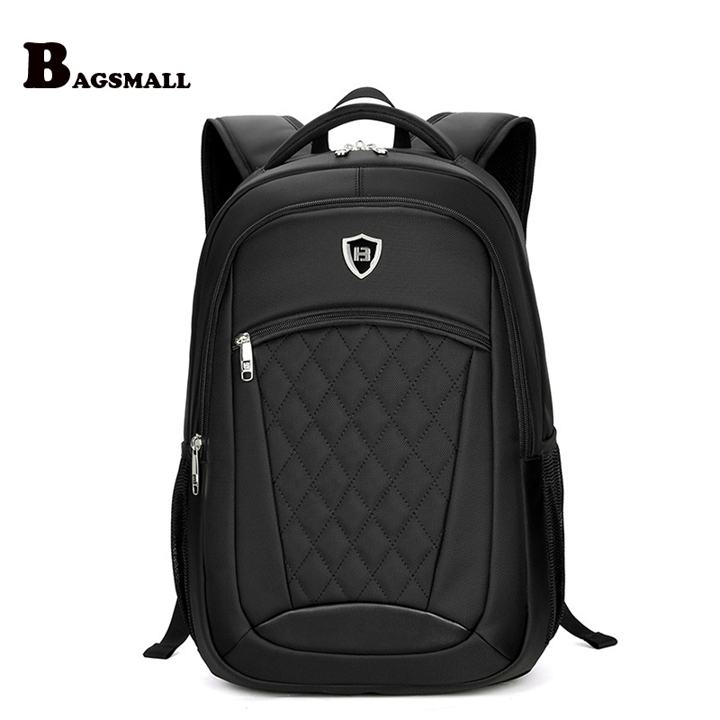 BAGSMALL Male Minimalism Travel Backpack Mens Business 15.6 inch Laptop Backpack Waterproof School Computer Bag For Teenager <br>