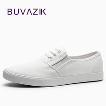 2017 women canvas shoes low breathable women solid color flat shoes casual shoe(China)
