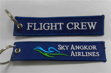 Sky Angkor Airlines Flight Crew Fabric Key Chain Aviation Tags(China)