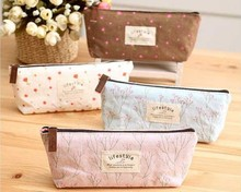 1 PCS Hot Sale New Flower Floral Pencil Pen Canvas Case Cosmetic Makeup Tool Bag Storage Pouch Purse Lace Pen Bag(China)
