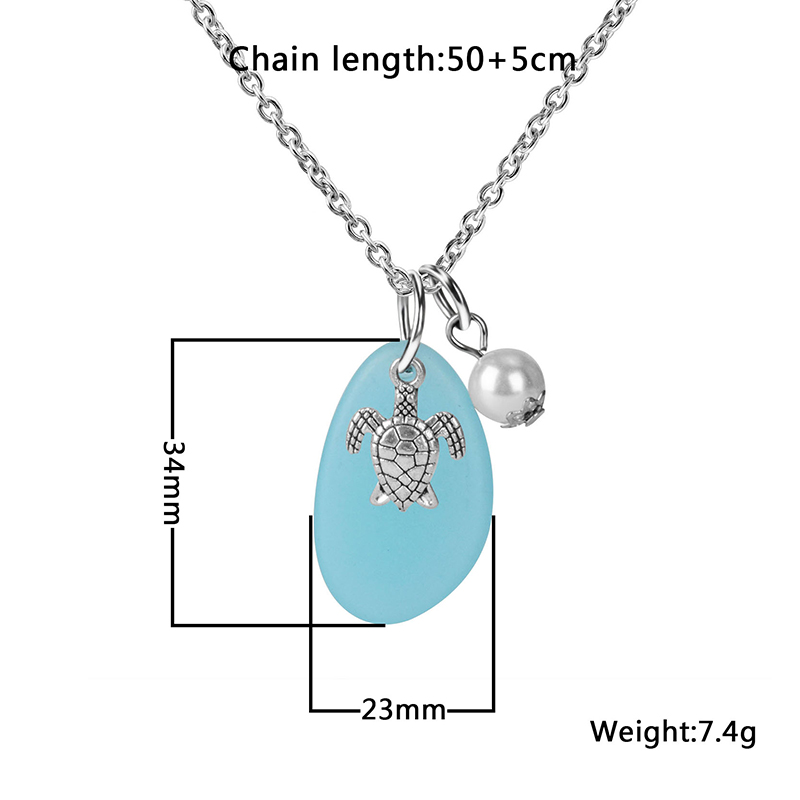 Beach Turtle Necklace Sizes