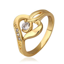 New 2014 24K Gold Filled Rings For Women Engagement Korean Wedding Ring Set Fashion Jewelry Alliance Acessorios Bijoux R599/8