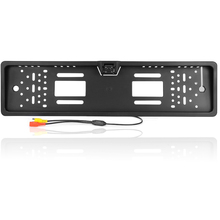 The 170 European car license plate frame car rear view camera 4 LED universal CCD infrared night vision 2017 new (free mail)
