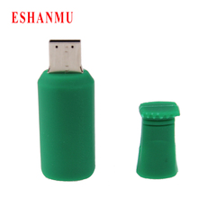 2016 Real Capacity Beer Bottle 4GB 8GB 16GB 32G Pen Drive Pendrive Usb Flash Drive For PC Bottle usb pen drive(China)