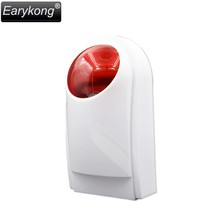 NEW Earykong 433MHz Wireless outdoor alarm strobe siren flash, Only for G90B (Plus) alarm system waterproof, built-in battery(China)