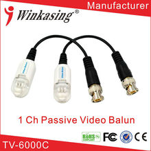 single channel rj45 BNC utp passive video balun transceiver for cctv cameras