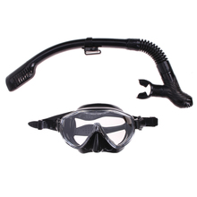 Snorkeling diving set gear Equipment  Silicone Diving Mask Anti-Fog Goggles Glasses + Snorkel Breathing Tube Set  Swim Spearfish