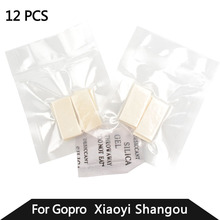 GoPro Accessories 12 Pcs For Gopro Anti-Fog Inserts For Xiao Yi Anti Fog Recycle Drying Inserts Hero6 5 4 3 5 Black SJ4000(China)