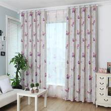 Butterfly Flower Window Gauze Curtain Sheer Tulle Drape Home Hotel Balcony Decor(China)