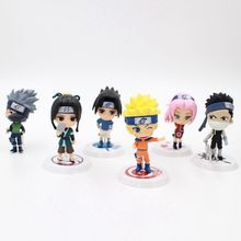 6Pcs/set Anime HOKAGE Naruto Cartoon Mini Cute Version PVC+ABS Material Children Toy Collection Action Gigure Model - Pop Collectibles Store store