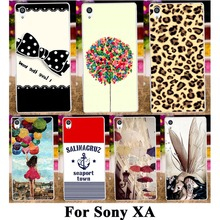 Hard Plastic Soft TPU Silicon Phone Case For SONY Xperia XA F3111 F3112 F3113 F3115 5'' Cover 18 Patten Fashion Pictures Housing