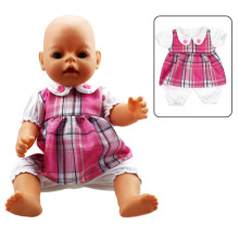 "Handmade Pink Siamese Clothing Doll Clothes Wear Baby Romper For 18"" American Girl Doll & 43cm/16.93in Baby Born(China)"