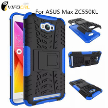 Mobile Phone TPU & PC Dual Armor case Hard Silicone Armor Shock Proof Anti-Skid Case For Asus Zenfone Max ZC550KL 5.5inch