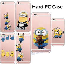 Cute Cartoon Big Eyes Despicable Me Minions Painted Cell Phone Cases for iPhone 5 5s SE 6 6s plus Silicon Gel Hard PC Phone Case