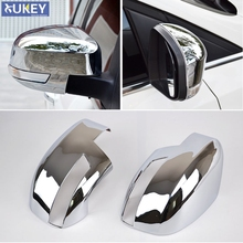 Fit For Ford Focus Mk3 Chrome Door Side Rear View Mirror Cover Trim Cap Overlay Garnish Molding 2012 2013 2014 2015 2016 2017(China)