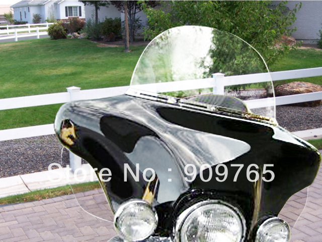 Free Shipping 1 Pair Clear Side wings Windshield Air Deflectors Reflective For Harley Touring FLHR FLHT<br><br>Aliexpress