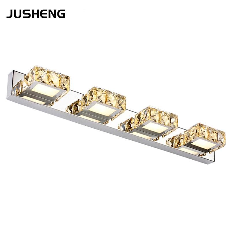 JUSHENG 4-lights Bathroom Mirror Light 12W 62CM Long LED Wall lights Indoor Sconces Lamps for home 100-240V AC