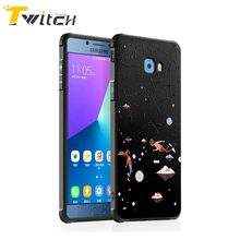 Twitch Cartoon Star Sky Lover Theme Silicone Black Case For Samsung Galaxy C5 C7 Pro C9 Pro TPU Back Cover Mobile Phone Housing