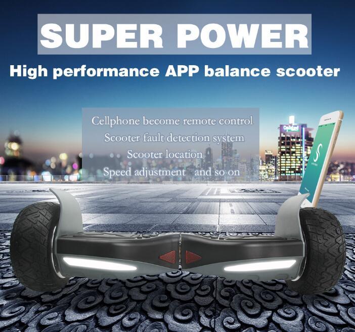 Maoboos супер Мощность баланс скутер 8.5 дюймов приложение Ховерборд гироскоп два колеса giroskuter Германия со Smart скейтборды