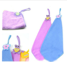 Free Shipping  sweet candy color hand towel microfiber fabric kitchen towel 4pieces/lot mixed colors