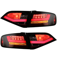 for Audi A4 A4L A4L/B8 LED Tail lights 2008 to 2012 year car original replacement for Halo models Black housing with red bar