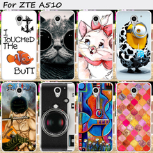 Soft TPU Mobile Phone Covers For ZTE Blade A510 A 510 Cases Cat With Black Glasses Covers With a Camera Cell Phone Bags Housings