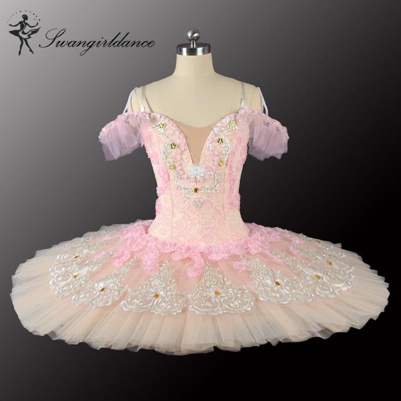 Adult girls swan lake ballet costumes professional ballet tutus pink peach nutcracker ballet tutus women platter tutu BT9028B