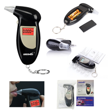 Free shipping Digital LCD Alcohol Breath Analyzer Breathalyzer Tester Keychain Audible Alert for driver(China)
