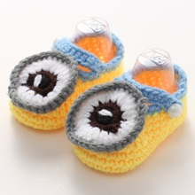 Purple Fashion Cute Baby girls prewalker Crib cat toddler moccasins,Toddler crochet shoes cartoon button Soft bowknot 5 pair/lot