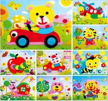 20pcs/Lot DIY Handmade 3D Eva Foam Puzzle Sticker kids baby Self-adhesive Eva Crafts Toys Learning & Education Toys 17cm*13cm(China)